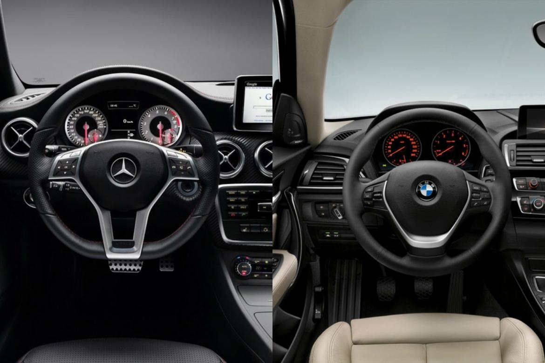 Static Comparison Mercedes Benz A Class Vs Bmw 1 Series