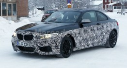 BMW M2 Coupe spied during winter testing in Germany