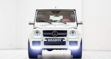 With all the white paint, you wouldn't guess this was a Brabus