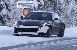 Ferrari FF facelift spied during winter testing in Sweden