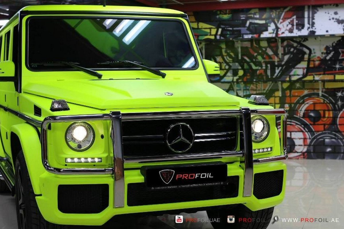 G Wagon 2015 >> Neon yellow is the new black for this Mercedes G 63 AMG ...
