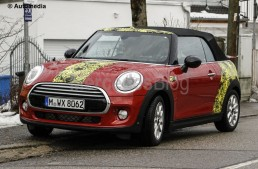 MINI Cabrio and MINI Clubman spied during testing in Munich