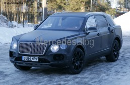 Bentley Bentayga SUV spied again. Mercedes-Maybach answer in the pipeline