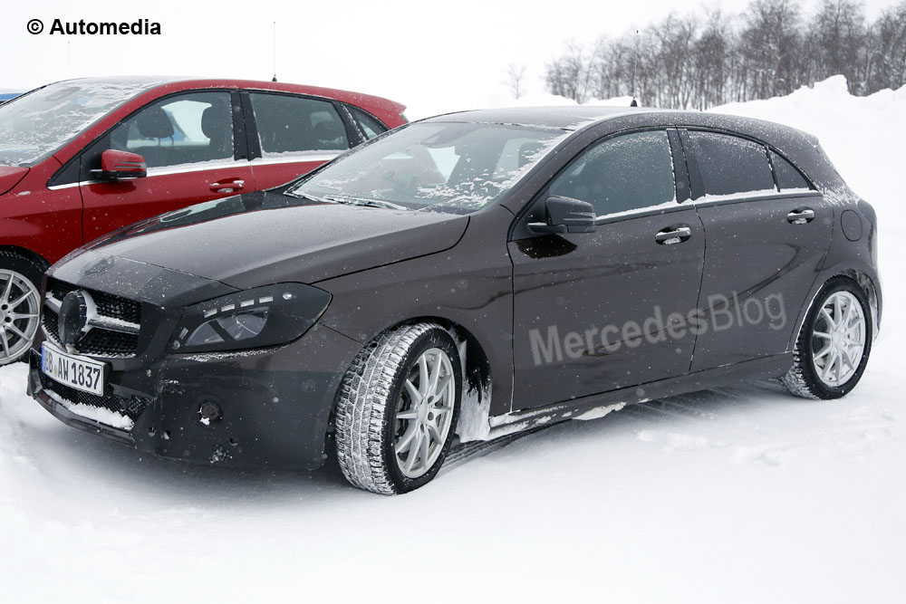 Mercedes-Benz A-Class Facelift – latest spy pictures