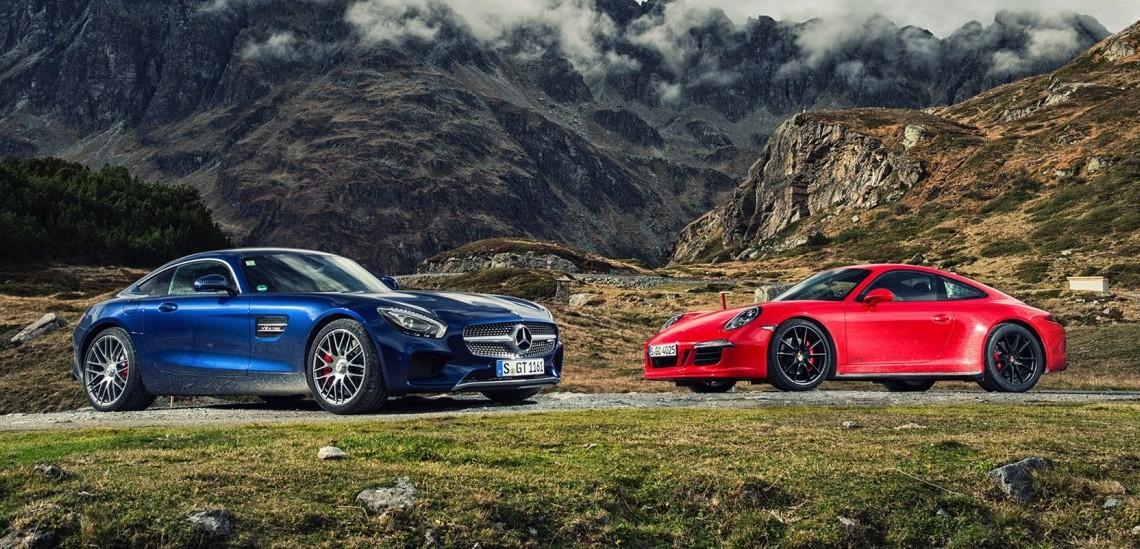 World-first Mercedes-AMG GT S vs Porsche 911 GTS comparison