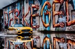 The Mercedes AMG GT making a splash in Berlin