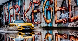 The Mercedes AMG GT making a splash in Berlin