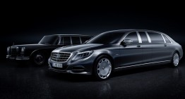 Mercedes-Maybach S-Class Pullman revealed ahead of Geneva