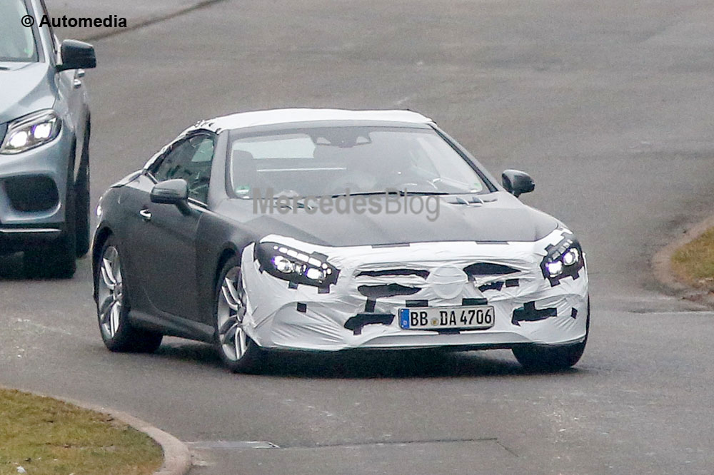 Fresh style for revised Mercedes-Benz SL – first spy pictures