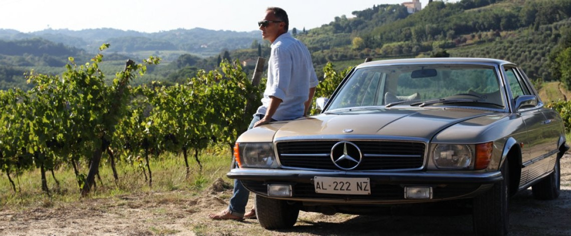 The winemaker and the historymaker: Mercedes-Benz SLC Pagoda