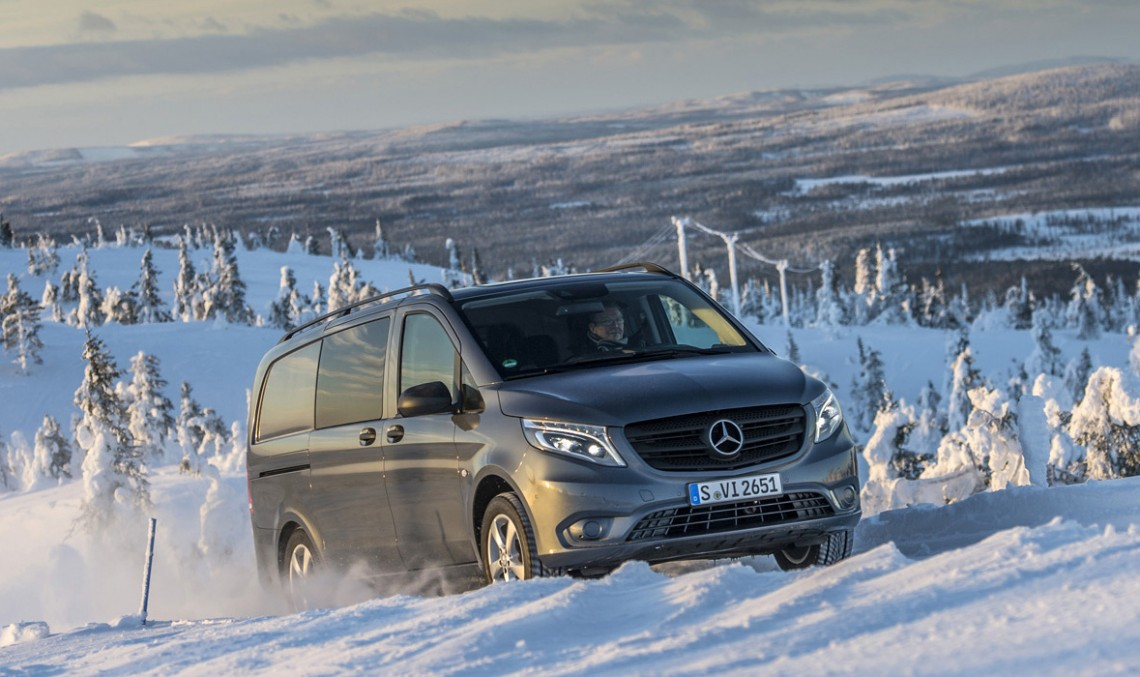 Mercedes-Benz Vito 4×4: more traction for your business (with video)