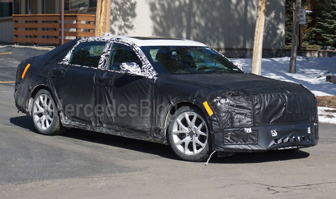 Spy shots :Cadillac CT6, the future Mercedes-Benz S-Class rival