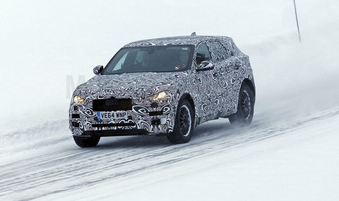 2016 Jaguar F-Pace spied, this time wearing camouflage during winter testing