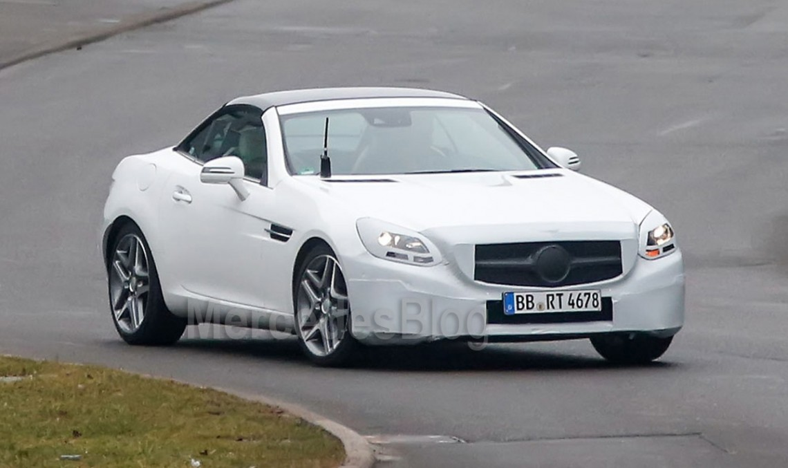 First shots of the Mercedes-Benz SLK 2016 facelift