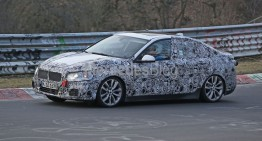 BMW 1-Series Sedan spy pictures. CLA rival caught again