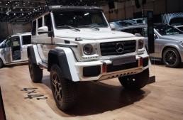 GENEVA LIVE: Mercedes-Benz G500 4×4², intimidation at its best