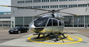 If only Pullmans could fly. Mercedes-Benz styles an Airbus EC145 Helicopter