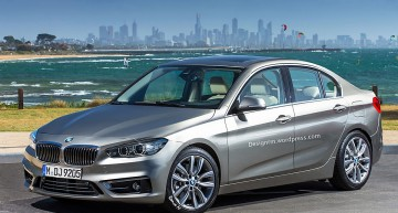 Digital render for the new BMW 1 Series Sedan – CLA rival
