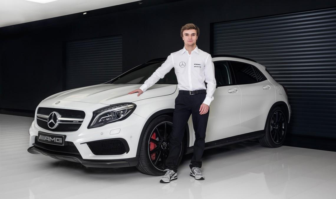 Watch a video of Lucas Auer, Mercedes-Benz DTM newcomer