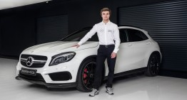 Watch a video of Lucas Auer, Mercedes-Benz DTM newcomer
