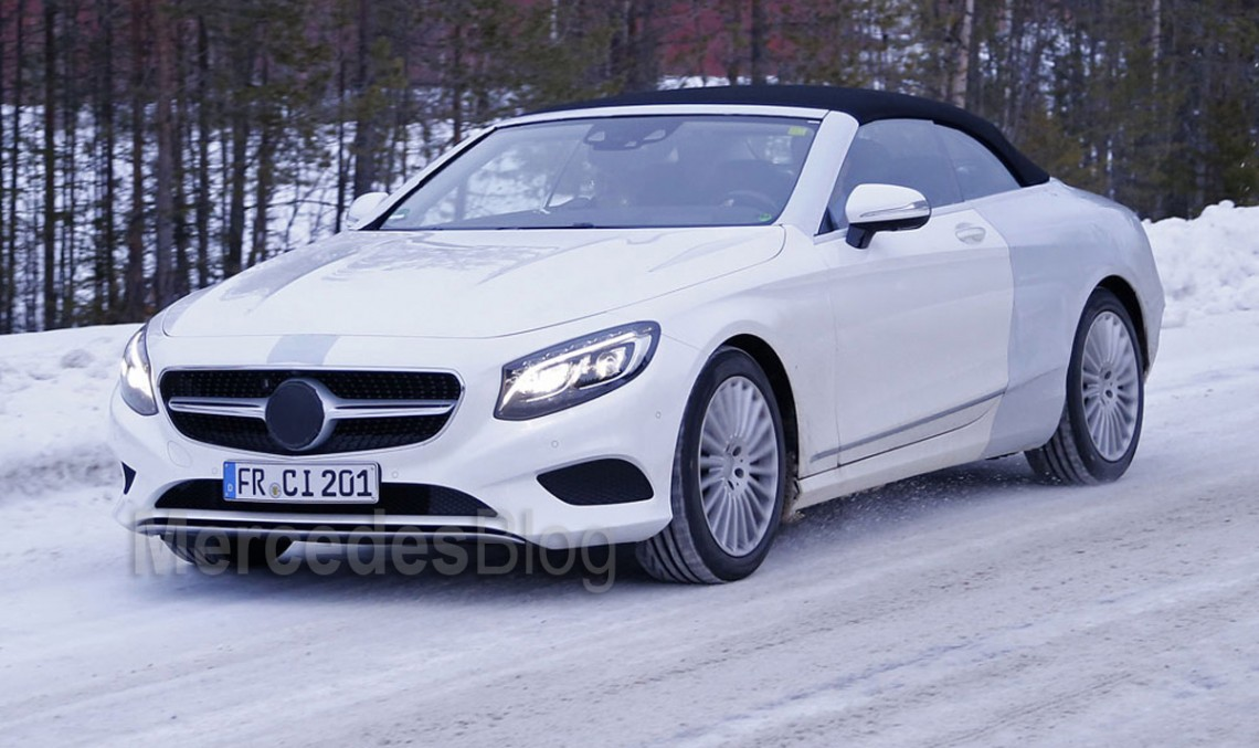 Latest spyshots of the future Mercedes-Benz S-Class Cabrio