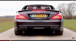 The superb sound of the 5.5 biturbo AMG V8 from the SL 63 AMG (video)