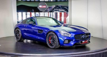 Blue beast with read interior in Dubai: the Mercedes-AMG GT S