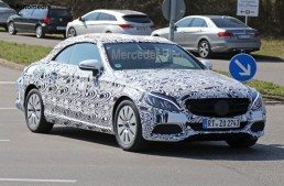 2017 C-Class Cabrio caught on video. See it in motion