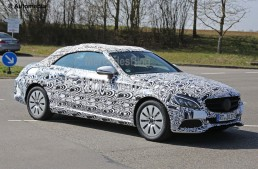 Mercedes C-Class Cabrio revealed – new spy pictures