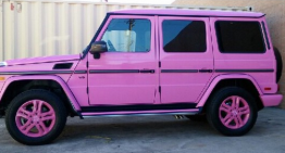 It can't get any pinker than that: the pink G-Class