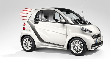 The smart fortwo gets wings – Fly, baby!