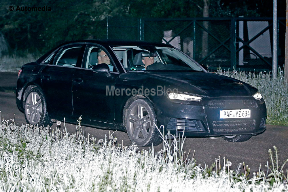 New Audi A4 spy pictures. C-Class rival virtually undisguised