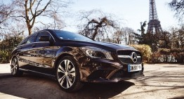 Bonsoir, Paris! Away in a CLA Shooting Brake