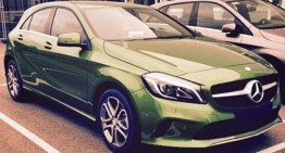 FIRST PICTURE: Mercedes-Benz A-Class facelift undisguised