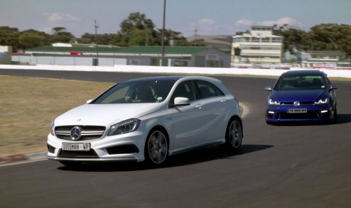 The war of the hot hatch: VW Golf 7R vs Mercedes A 45 AMG