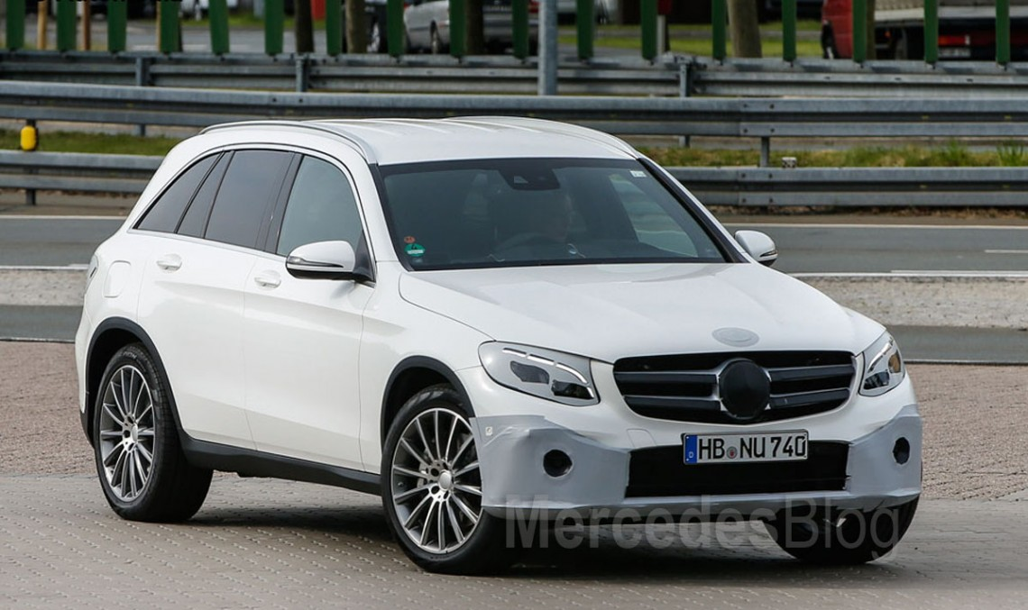 Fresh (almost) unmasked photos of the new Mercedes-Benz GLC