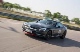 Mille Miglia homage Mercedes SL 417 put through its paces