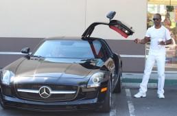 The Nutty Professor Eddie Murphy drives a naughty car: the SLS AMG