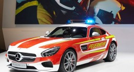 Mercedes-AMG GT S Fire Department Edition. Not quite a fire truck!