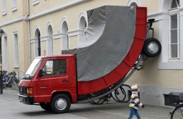 Sculpted Mercedes-Benz truck gets parking ticket in Germany!