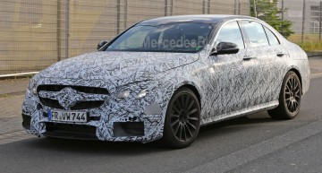 Mercedes-AMG E 63 uncovered. First spy pics
