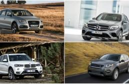 Mercedes GLC vs Audi Q5, BMW X3 and LR Discovery Sport: first static comparison