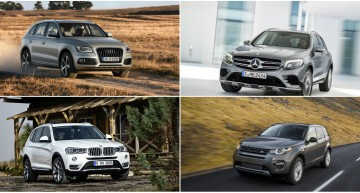 Mercedes GLC vs Audi Q5, BMW X3 and LR Discovery Sport: first static comparison