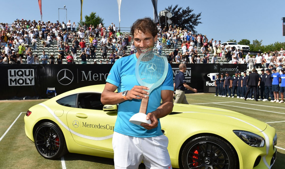 Rafa Nadal gets a Mercedes-AMG GT S. Isn't he a lucky guy?