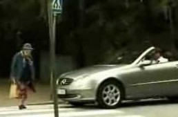 Granny sets off Mercedes airbag