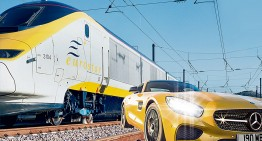 Bombardier vs bullet: the Mercedes-AMG GT S races the Euro Train