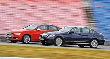 Mercedes-Benz C 400 4MATIC takes on the Audi S4