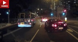 Nissan GT-R tried to kill the C-Class. Twice (video)