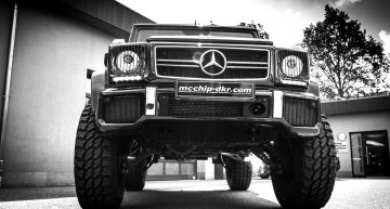 Mcchip-dkr raise the G 63 AMG both literally and metaphorically