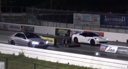 Jumping off the start line to beat a Mercedes? Mercedes-AMG E63 S v 2015 Corvette C7